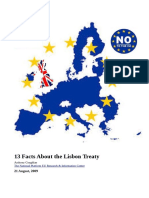 13 Facts About the Lisbon Treaty