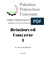 Reinforced Concrete I