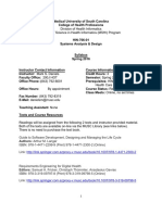 HIN-706 Systems Analysis and Design Syllabus 20150105