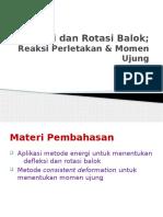 Metode Energi-Defleksi & Rotasi-momen Ujung