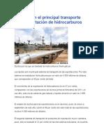 Ductos Son El Principal Transporte Para Exportación de Hidrocarburos