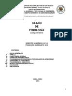 Syllabus Fisiologia Eape 2015