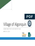 Algonquin Downtown Streetscape 2016
