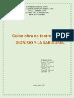 Guion Obra Teatral Grupal. Estetica. Arte Medieval. Grupo #3