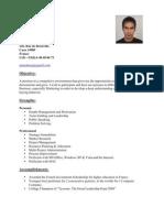 Resume for Marketing