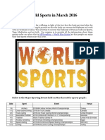 World Sports in March 2016