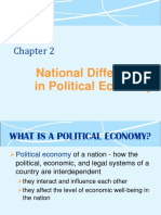 INB-372 Lecture #3 & 4 National Differences in Political Economy