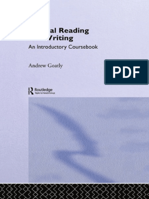 critical reading and writing andrew goatly pdf download