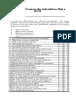 Inventario de Pensamientos Automáticos Ruiz y Lujan