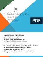 Resumen de Inventario de MERCADO