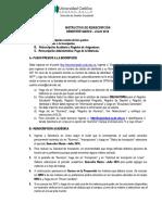 Instructivo de Reinscripcion Febrero 201625