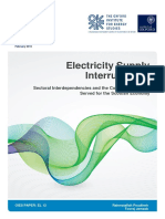 Electricty Supply Interruptions - Sectoral Interdependencies and the Cost of Energy in Scotland
