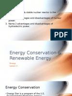 energy conservation   renewable energy