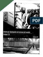 Informe de Valorarización de Indutex S.A.