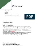 Grammar - Preposition