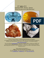 30th GeMin 2016 International Mineral,Gemstone ,Jewellery and Fossil Exhibition,2-3-4 December 2016 , Athens ,Greece