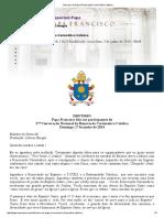 Discurso Do Papa à Renovação Carismática Católica