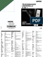 LT6461 Lifetec Medion Liste Codes