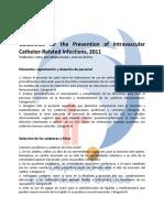 Recomendaciones CDC Cateteres 2011 Traducida Fabiana