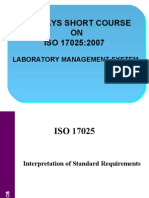 Interpretation of Requirements of ISO 17025