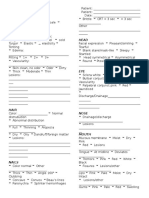 nursing Assessment Form