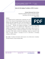 The Use of Short Stories for Developing Vocabulary of EFL Learners Full Paper