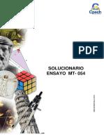 Solucionario Ensayo MT-054 2015