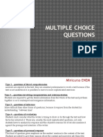 Multiple Choice Questions 2015