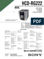 SONY HCD-RG222 Service Manual
