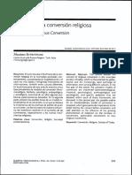 El Hecho de La Conversión Religiosa