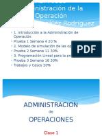 Teoría Administración Operaciones