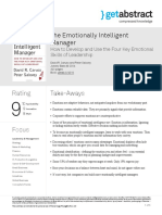 The Emotionally Intelligent Manager Caruso en 4010