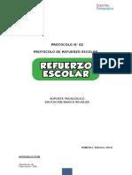 Protocolo Refuerzo Escolar Febrero 2016  I.E. 20505