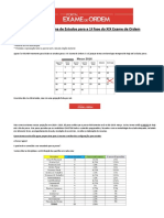 Cronograma de Estudos - XIX Exame de Ordem (Inicio-07-12)