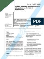 IMPORTANTE NBR 14283 - 1999 - Resíduos Em Solos - Determinação Da Biodegradação Pelo Método Respirométrico