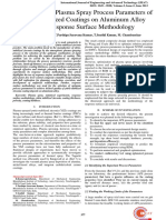 Optimizing the Plasma Spray Process Parameters of Yttria Stabilized Coatings on Aluminum Alloy Using Response Surface Methodology