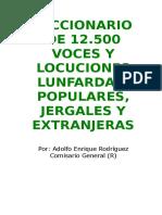 Diccionario lunfardo argentina online dating