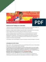 Historia Del Trabajo en Colombia