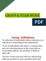 Group & Team Work