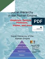 social hierarchy roman empire