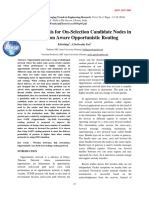 Efficacy Analysis for On-Selection Candidate Nodes in Correlation Aware Opportunistic Routing