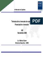 Mercado Capitales en Economia Real