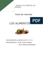 Feria de Ciencias Los Alimentos de ISOLINA