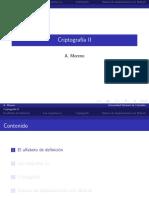 Criptografia II - A. Moreno