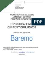 Baremo ULA 2015