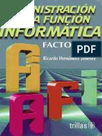 Libro Administracion de La Funcion Informatica