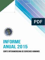 CorteIDH Informe Anual2015