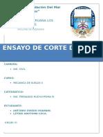 """Trabajo de Investigacion Corte Directo - Universidad Peruana los Andes """" filial Lima-Peru"""