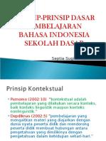 Prinsip Pembelajaran Bahasa Indoneisa