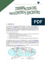 Calculo Del Hepicentro y Hipocentro
